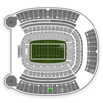 Pittsburgh Steelers at Heinz Field Section 511 View