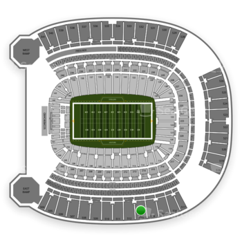 Pittsburgh Steelers at Heinz Field Section 513 View