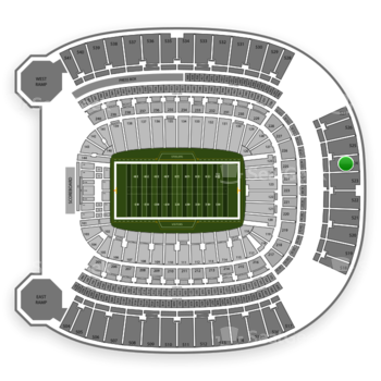 Pittsburgh Steelers at Heinz Field Section 524 View