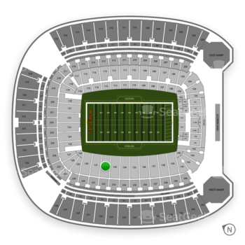 Pittsburgh Steelers at Heinz Field Section 132 View