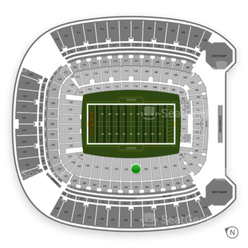 Pittsburgh Steelers at Heinz Field Section 135 View