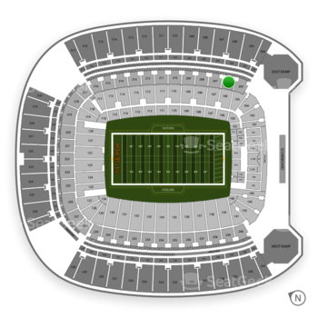 Pittsburgh Steelers at Heinz Field Section 206 View