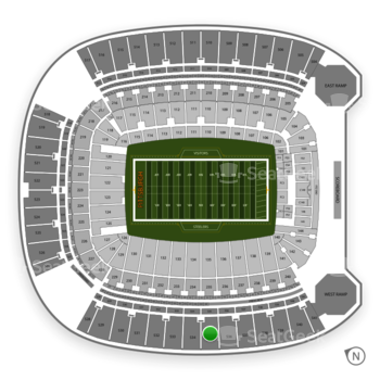 Pittsburgh Steelers at Heinz Field Section 535 View