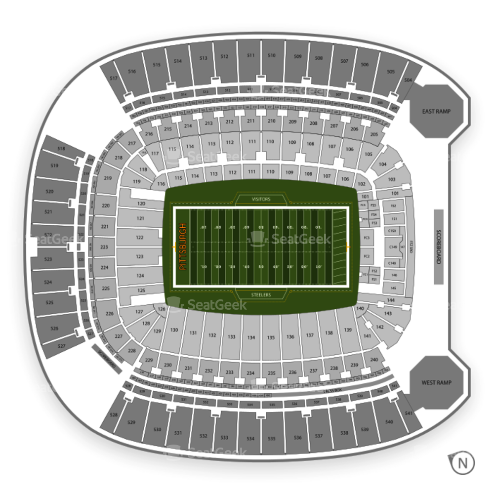 Pittsburgh Steelers Seating Chart & Map
