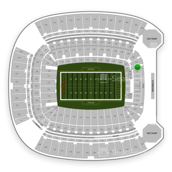 Pittsburgh Steelers at Heinz Field Section 101 View