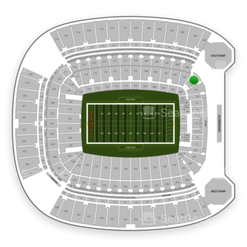 Pittsburgh Steelers at Heinz Field Section 104 View