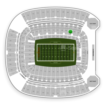 Pittsburgh Steelers at Heinz Field Section 107 View