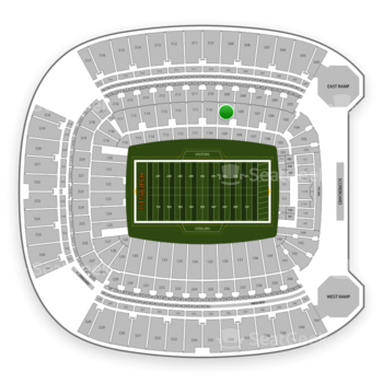 Pittsburgh Steelers at Heinz Field Section 109 View