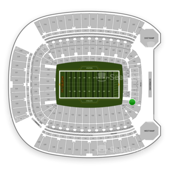 Pittsburgh Steelers at Heinz Field Section 144 View
