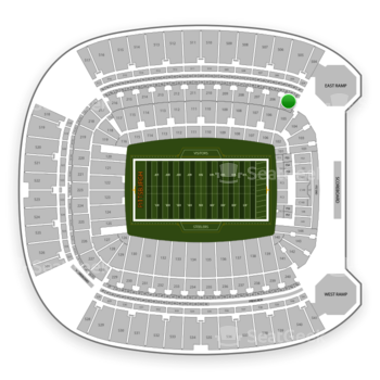 Pittsburgh Steelers at Heinz Field Section 205 View