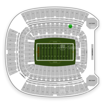 Pittsburgh Steelers at Heinz Field Section 207 View