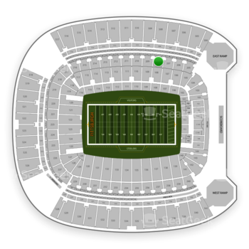 Pittsburgh Steelers at Heinz Field Section 208 View