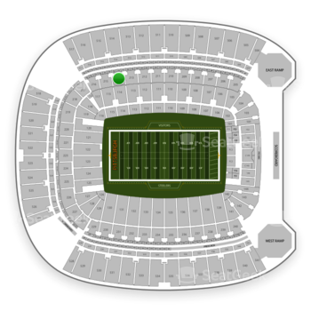 Pittsburgh Steelers at Heinz Field Section 214 View