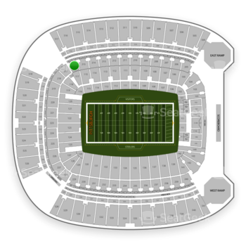 Pittsburgh Steelers at Heinz Field Section 216 View