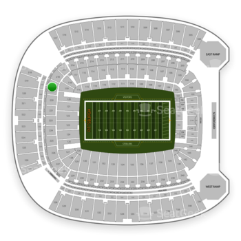 Pittsburgh Steelers at Heinz Field Section 219 View