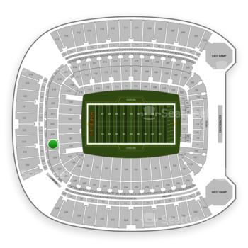 Pittsburgh Steelers at Heinz Field Section 225 View