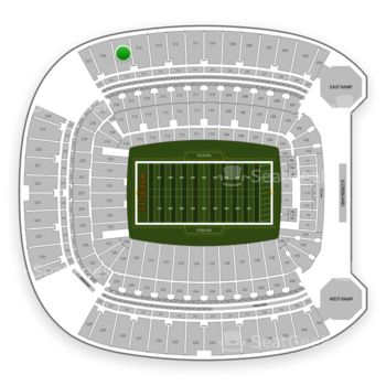 Pittsburgh Steelers at Heinz Field Section 515 View