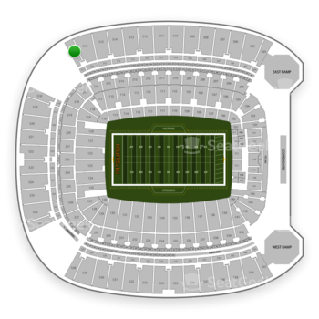 Pittsburgh Steelers at Heinz Field Section 517 View