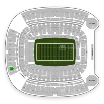 Pittsburgh Steelers at Heinz Field Section 526 View