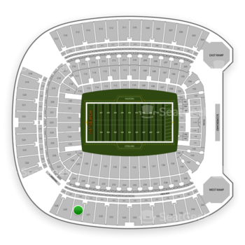 Pittsburgh Steelers at Heinz Field Section 530 View