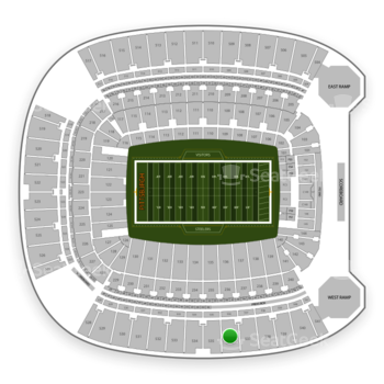 Pittsburgh Steelers at Heinz Field Section 536 View