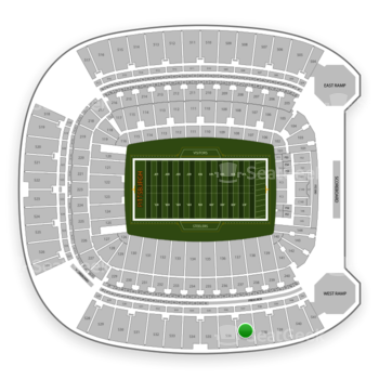 Pittsburgh Steelers at Heinz Field Section 537 View