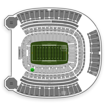 Pittsburgh Panthers Football at Heinz Field Section 106 View