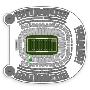 Pittsburgh Panthers Football at Heinz Field Section 107 View