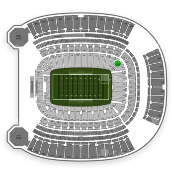 Pittsburgh Panthers Football at Heinz Field Section 128 View