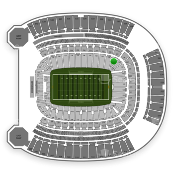 Pittsburgh Panthers Football at Heinz Field Section 129 View