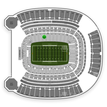 Pittsburgh Panthers Football at Heinz Field Section 136 View