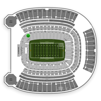 Pittsburgh Panthers Football at Heinz Field Section 141 View