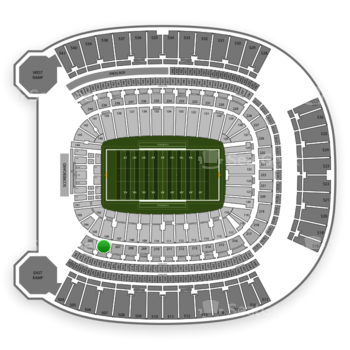 Pittsburgh Panthers Football at Heinz Field Section 206 View