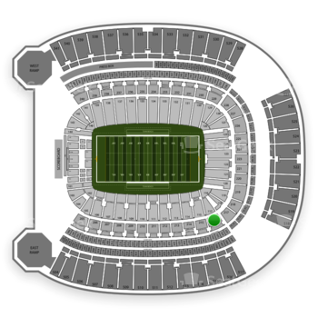 Pittsburgh Panthers Football at Heinz Field Section 216 View