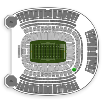 Pittsburgh Panthers Football at Heinz Field Section 217 View