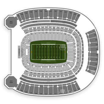 Pittsburgh Panthers Football at Heinz Field Section 222 View
