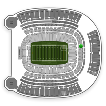 Pittsburgh Panthers Football at Heinz Field Section 225 View