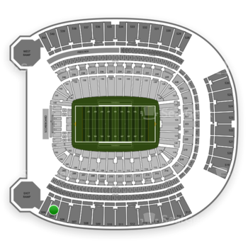 Pittsburgh Panthers Football at Heinz Field Section 505 View
