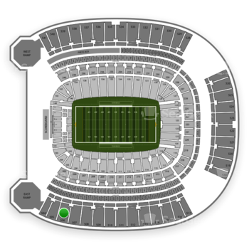 Pittsburgh Panthers Football at Heinz Field Section 506 View