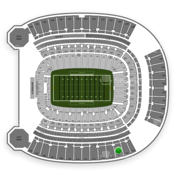 Pittsburgh Panthers Football at Heinz Field Section 515 View