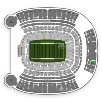 Pittsburgh Panthers Football at Heinz Field Section 520 View