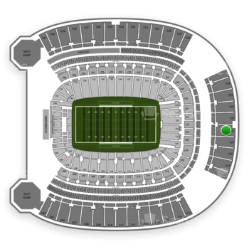 Pittsburgh Panthers Football at Heinz Field Section 522 View