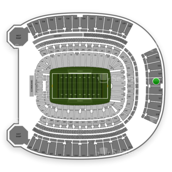 Pittsburgh Panthers Football at Heinz Field Section 523 View