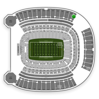 Pittsburgh Panthers Football at Heinz Field Section 528 View