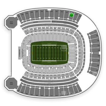 Pittsburgh Panthers Football at Heinz Field Section 530 View