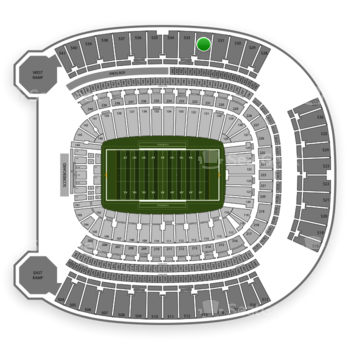 Pittsburgh Panthers Football at Heinz Field Section 532 View