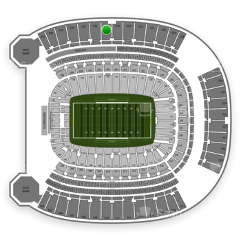 Pittsburgh Panthers Football at Heinz Field Section 535 View