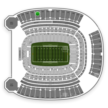 Pittsburgh Panthers Football at Heinz Field Section 537 View