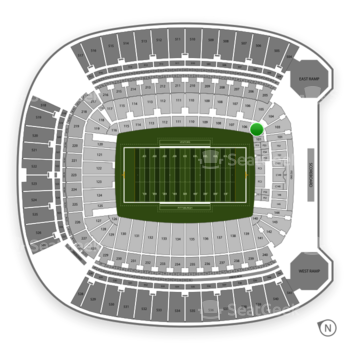 Pittsburgh Panthers Football at Heinz Field Section 102 View