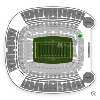 Pittsburgh Panthers Football at Heinz Field Section 103 View